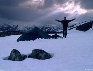 andrew terrill wild camp in the breheimen norway