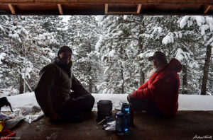 cooking in shelter winter andrew terrill and igloo ed