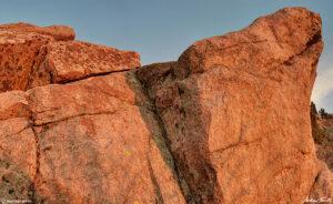 morning sunlight on granite rocks colorado april 2021