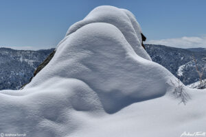 snow covered rock on mount galbraith open space colorado