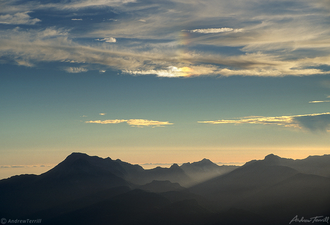 alpe apuane range seen from monte rondinaio apennines italy august 2991