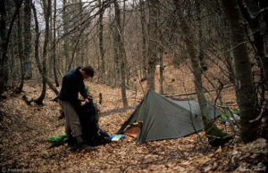 andrew terrill camp in beech wood on May 2 1997 Aspromonte calabria italy