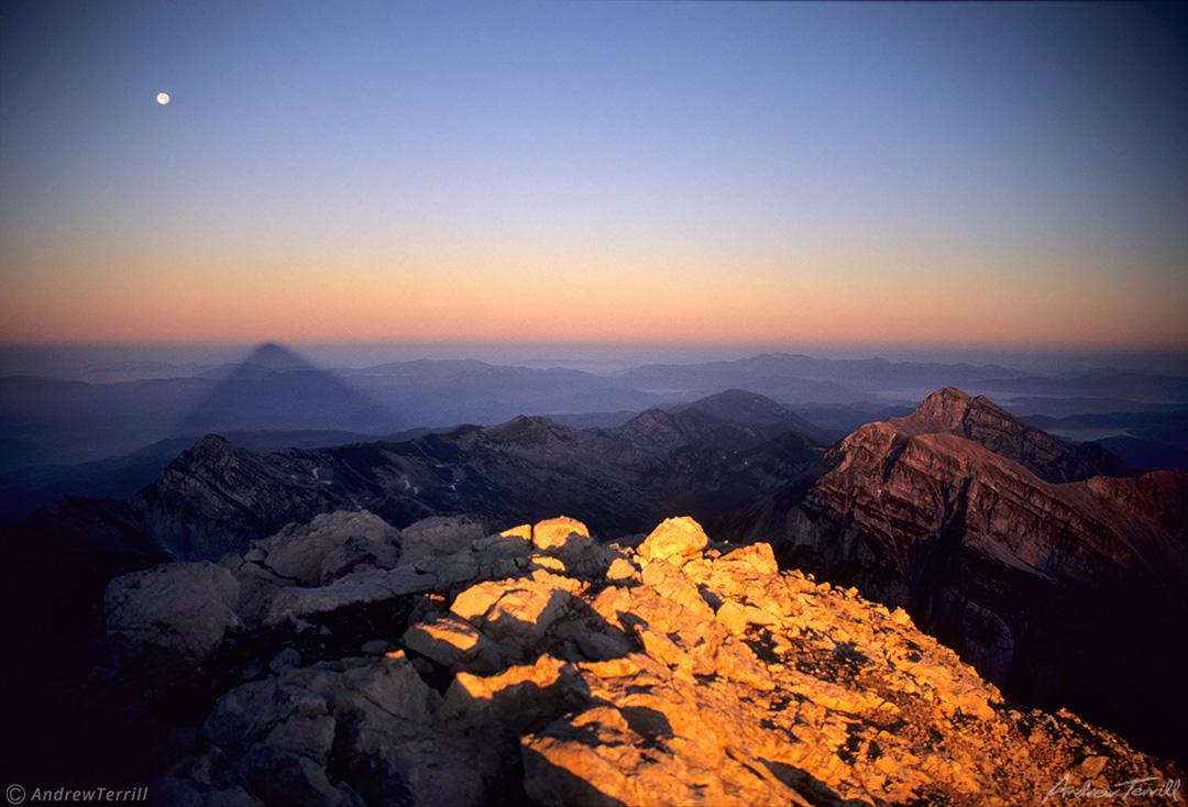 gran sasso d italia corne grande sunrise from summit july 21 1997 apennines italy