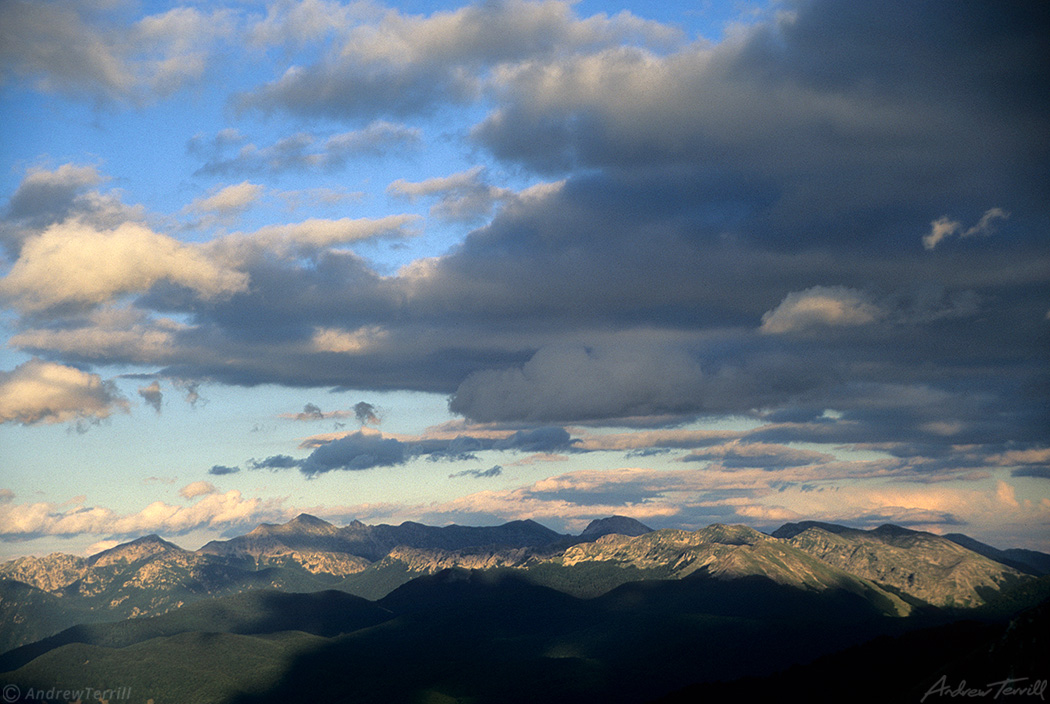 ridges abruzzo national park evening light and clouds