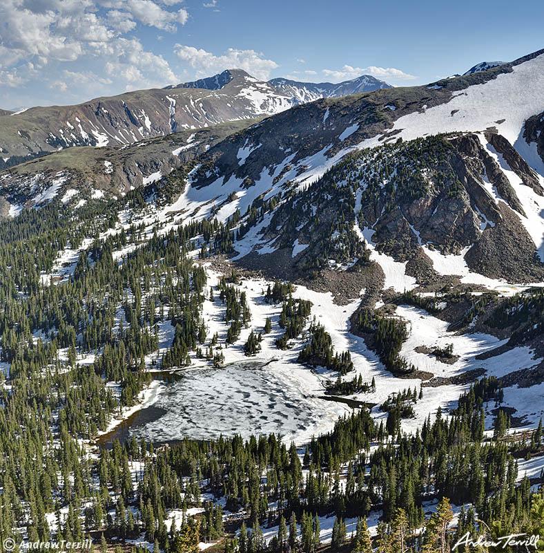 forest lake james peak wilderness colorado june