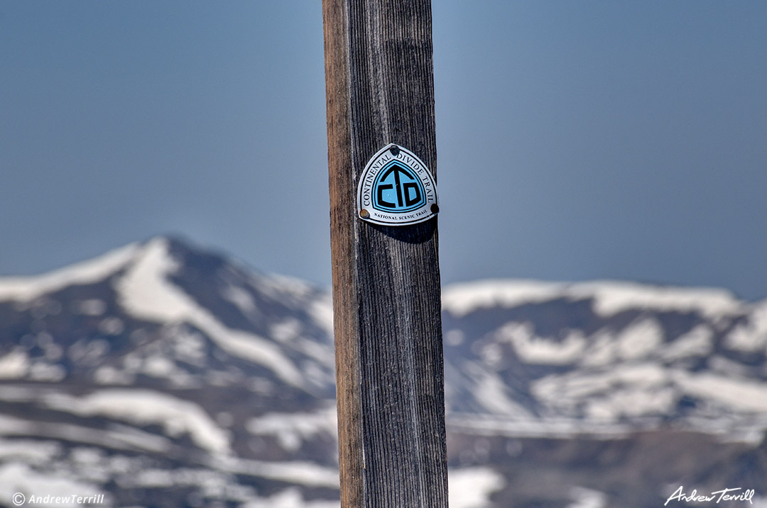 National Scenic Trail CDT trail marker colorado continental divide sign post waymarking