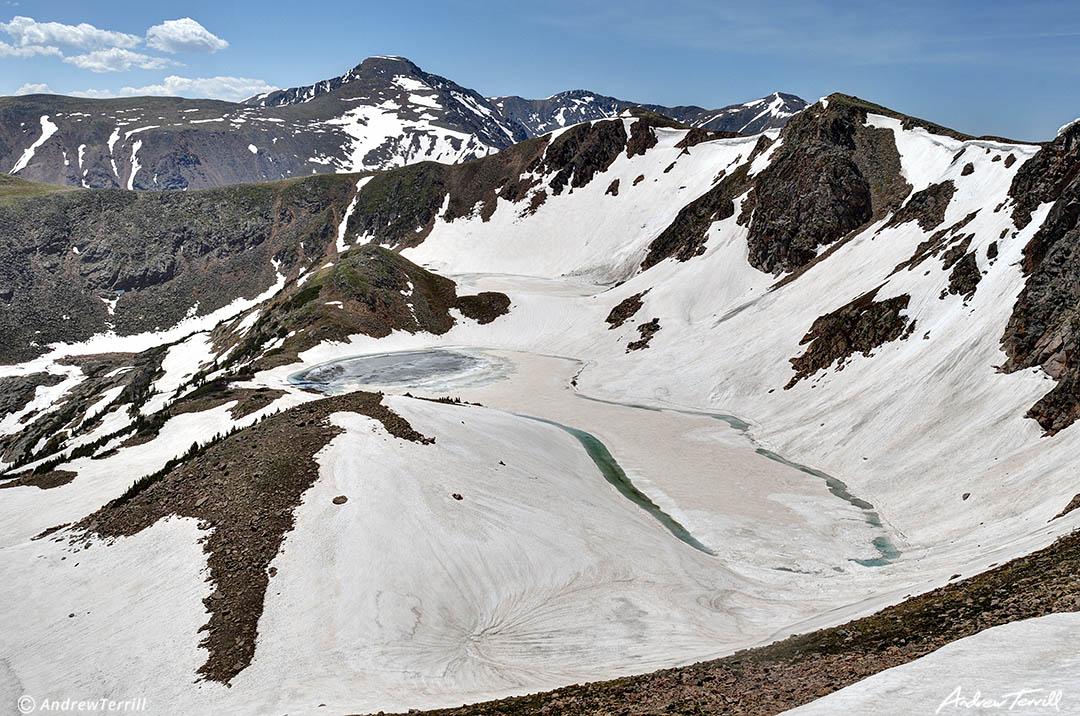 iceberg lakes james peak wilderness cdt colorado june