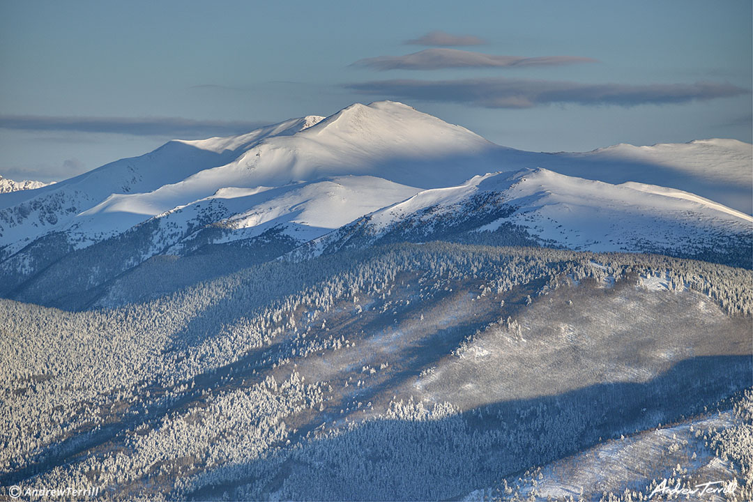 Winter front range colorado snow rocky mountains clear creek county morning