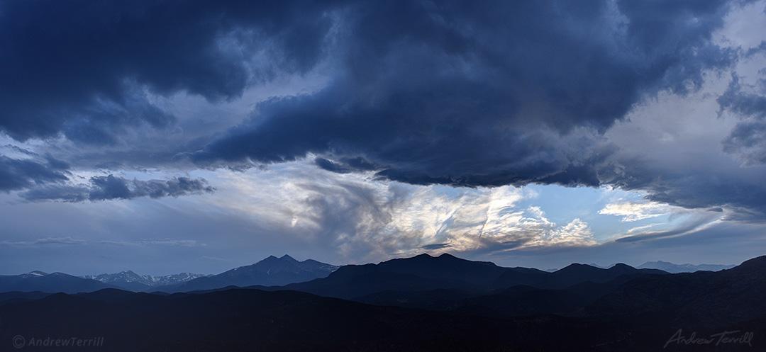 evening light over rocky mountain national park