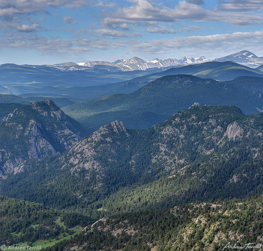 indian peaks wilderness and navajo peak seen from the distance