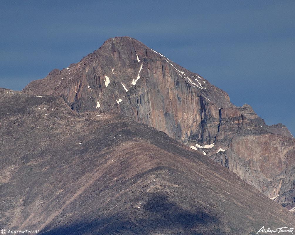 longs peak close up the diamond rocky mountain national park