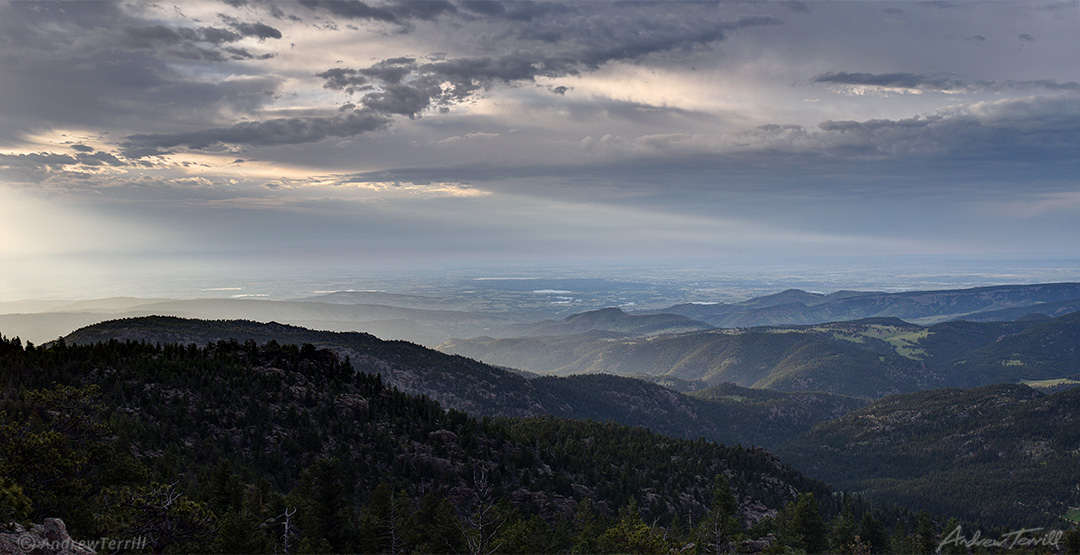 morning light over the front range foothills and lyons colorado