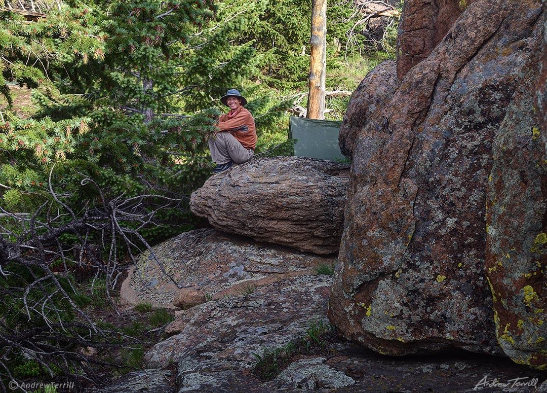 tarp camp among the rocks andrew terrill