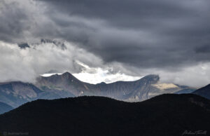 approaching storm in the sangre di cristo range colorado