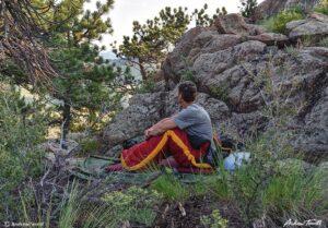 summer bivvy in colorado foothills
