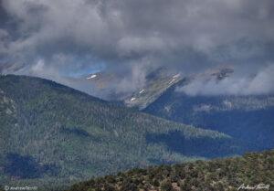 clearing clouds sangre di cristo range colorado