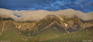 cloud cap at sunrise on sangre di cristo range colorado