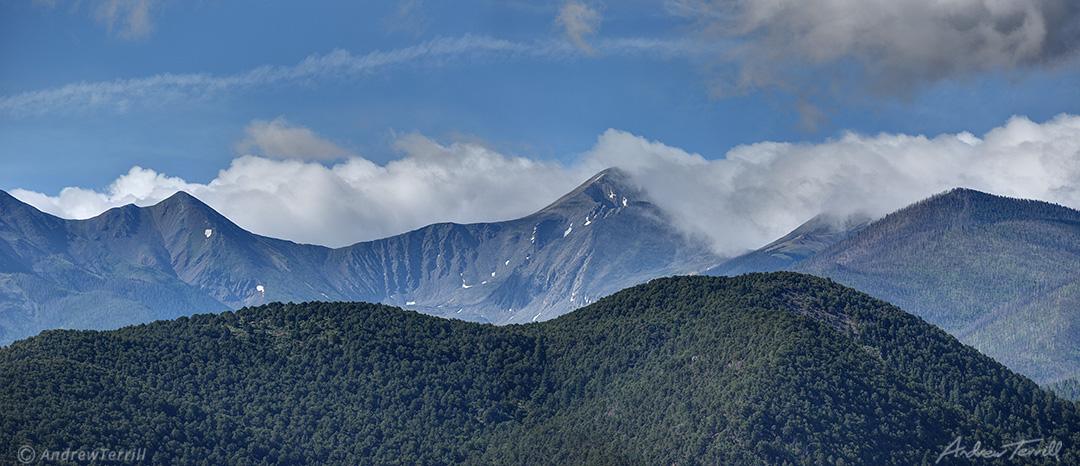 clouds on mountains colorado sangre di cristo range