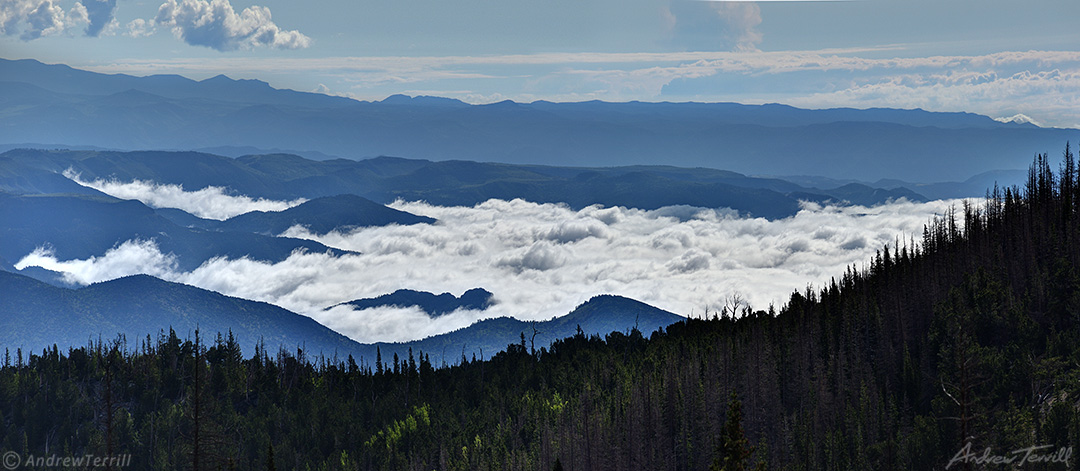 clouds seen from bushnell lake sangre di critso range colorado