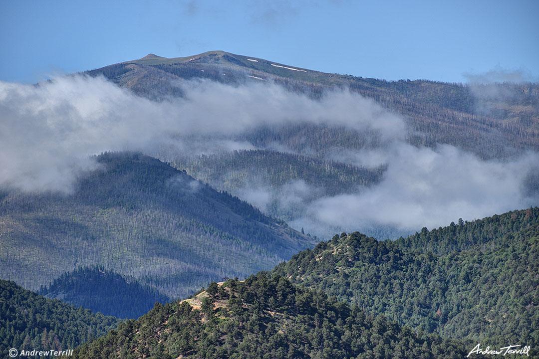 drifting clouds beneath the sangre di cristo mountains colorado summer
