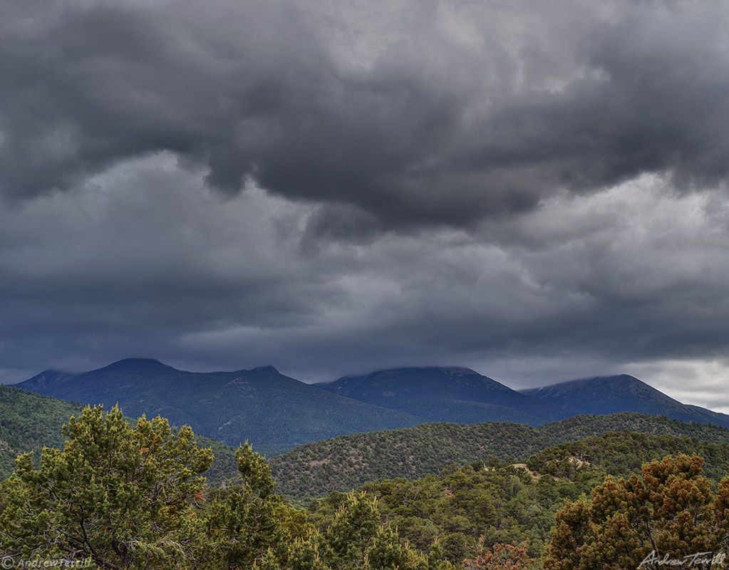 storm clouds over mountains colorado