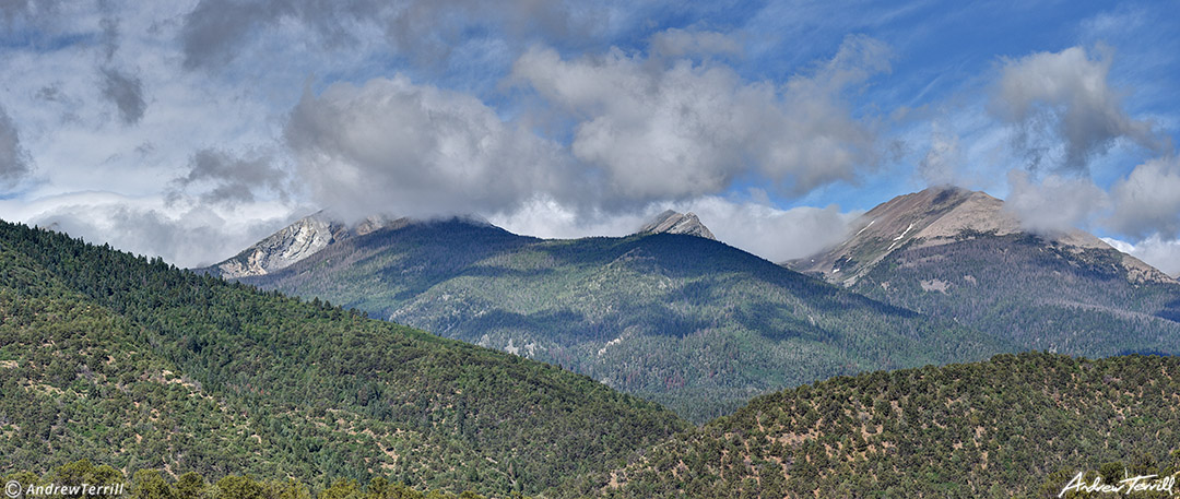 summer clearing clouds on sangre di cristo mountains