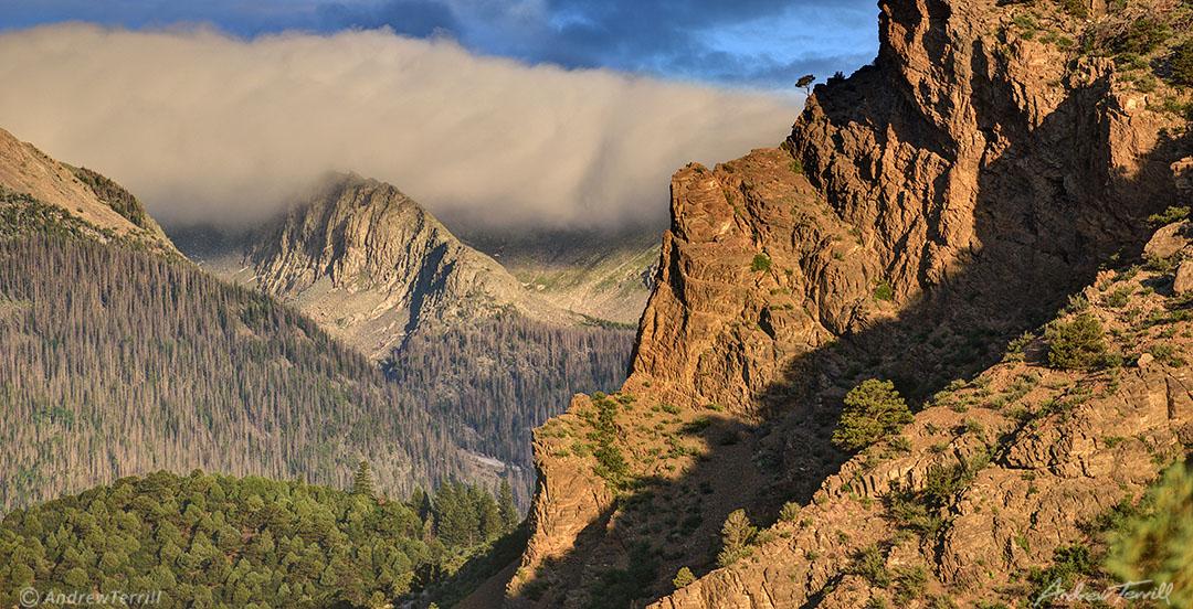 sunrise and clouds beneath the sangre do cristo range colorado