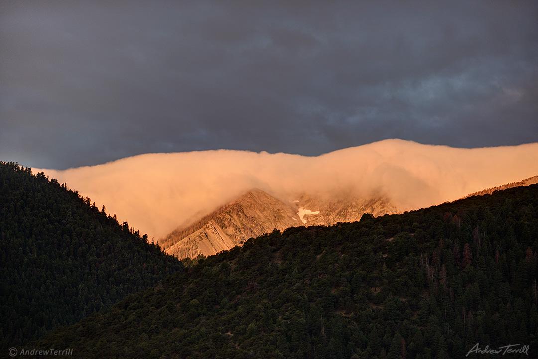 sunrise on morning cloud cap sangre di cristo range colorado
