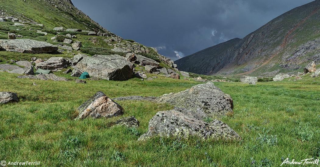 wild camp in colorado grey skies