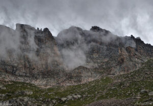 rock walls and storm clouds colorado