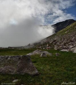 morning mist and sun mount evans colorado