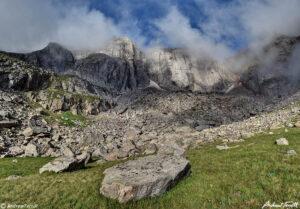 mist on cliffs mount evans colorado