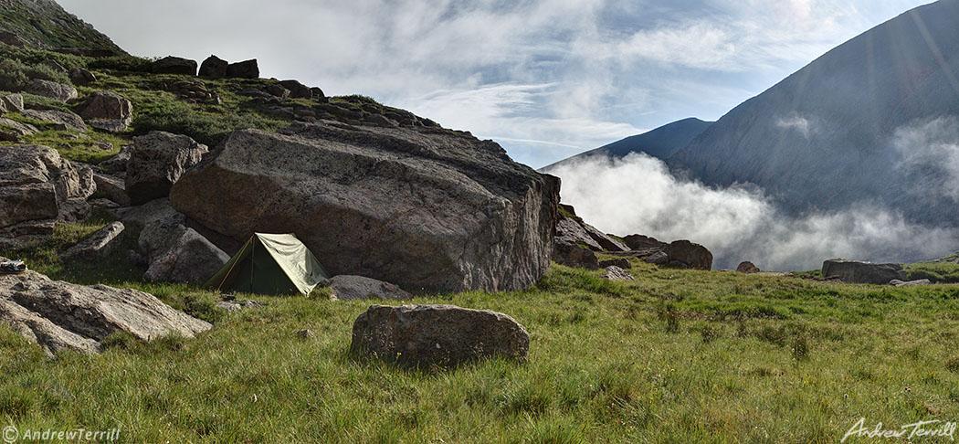 camp and fog mount evans colorado