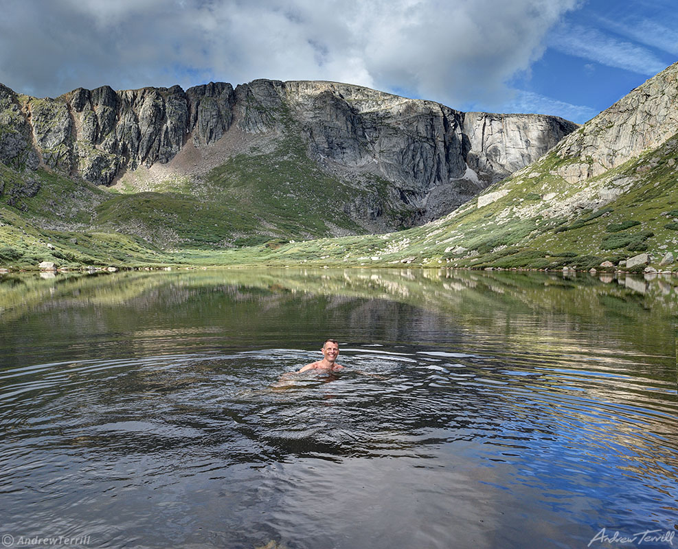 swimmer in Chicago Lakes mount evans colorado