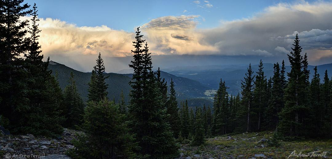 evening light front range colorado