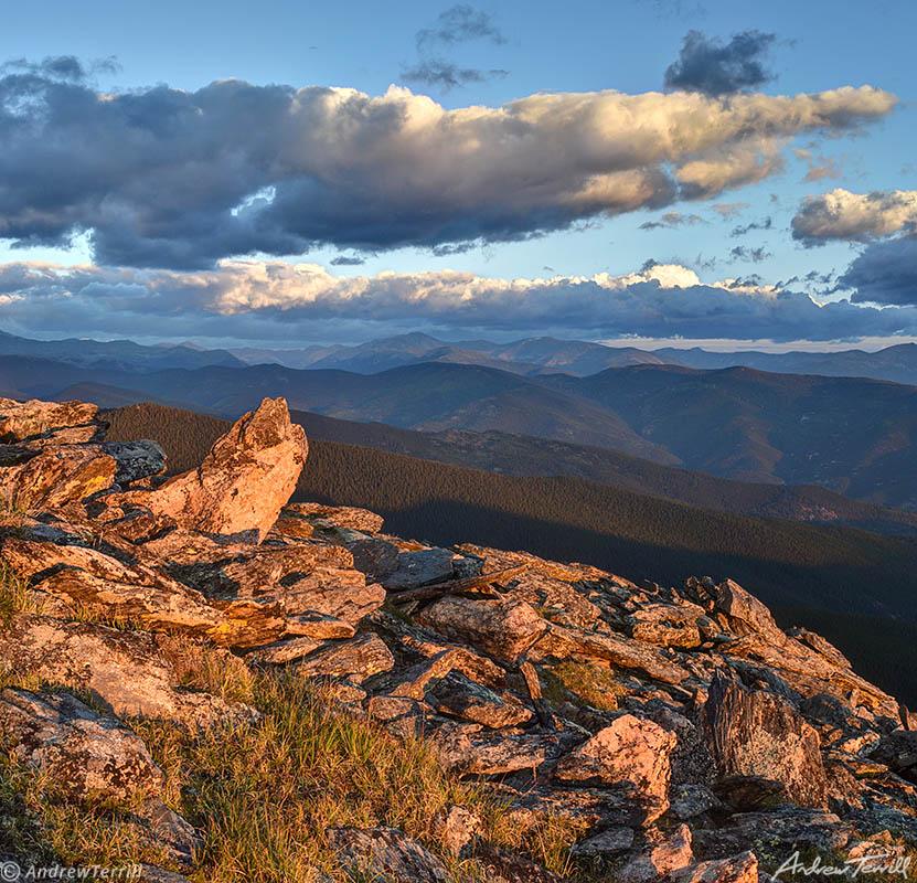 morning light on Chief Mountain Colorado summer