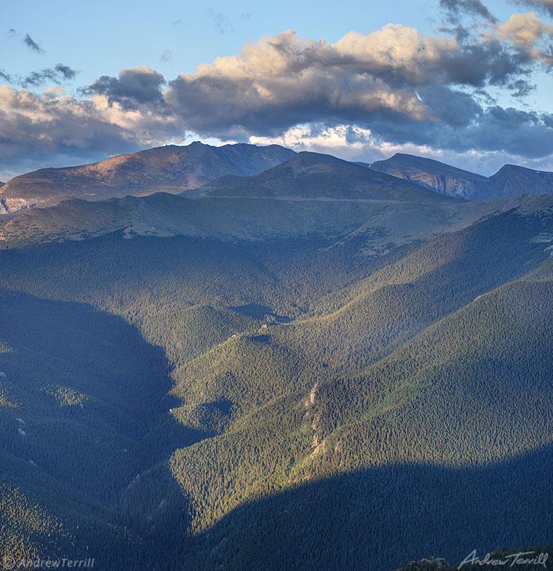 mount evans colorado in morning light summer