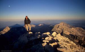 on the summit of Corno Grande Gran Sasso d Italia Apennines