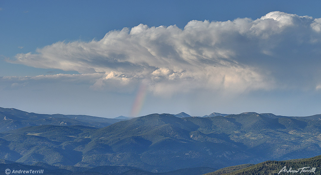 rainbow over colorado foothills