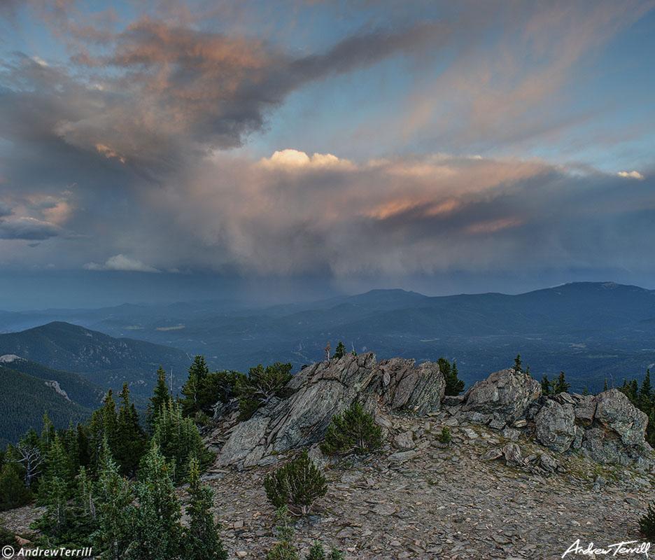 storm cloud evening light colorado foothills