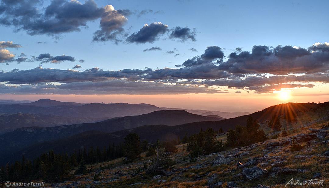 sunrise over the front range colorado summer