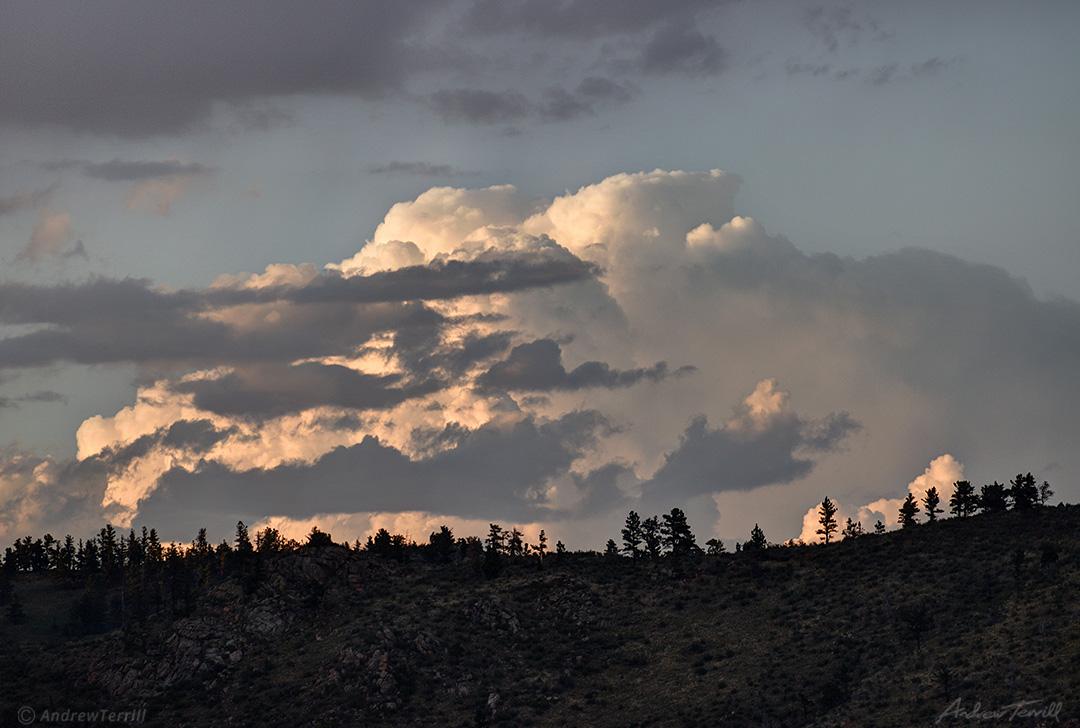 thundercloud above ridge colorado summer