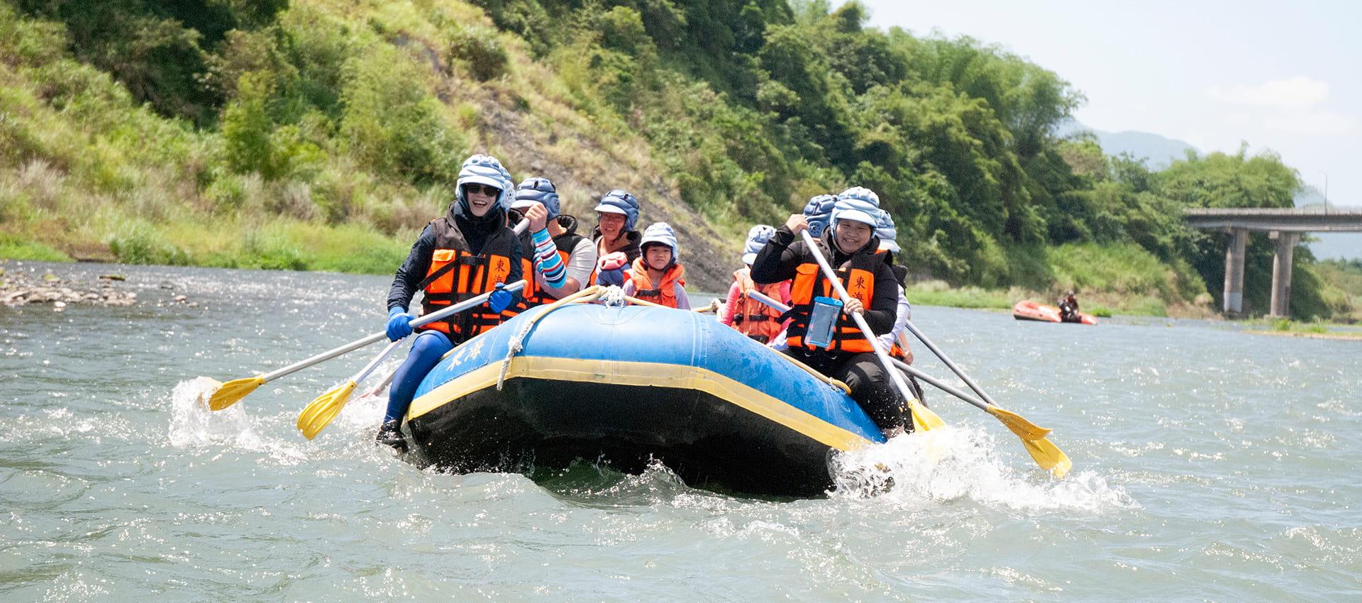最安全、最安心的歡樂泛舟行盡在東海!