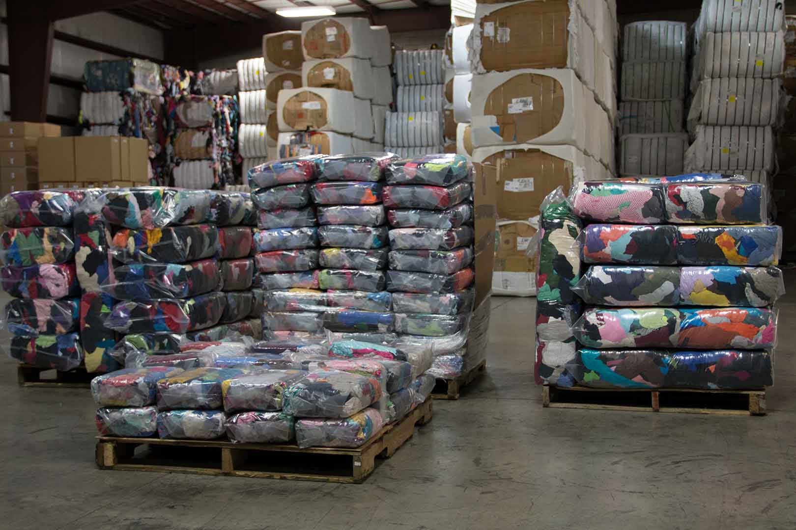 ready to ship palettes of rags