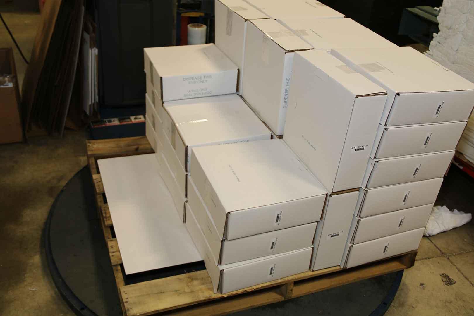 stacked white boxes