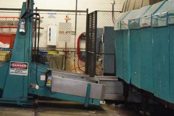 conveyor belt moving to industrial dryers