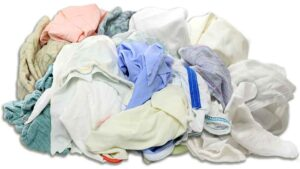 group of linen rags