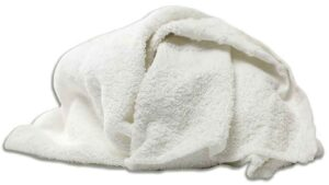 new white half terry towels