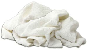 new white terry hand towels