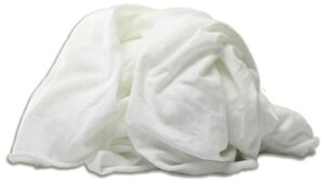 new washed 100% poly white knit rags